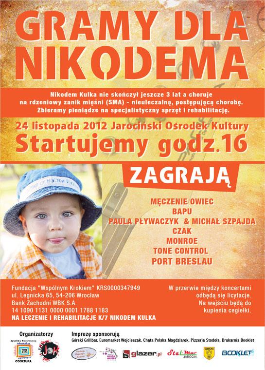 Przyjdź na koncert, pomóż Nikodemowi