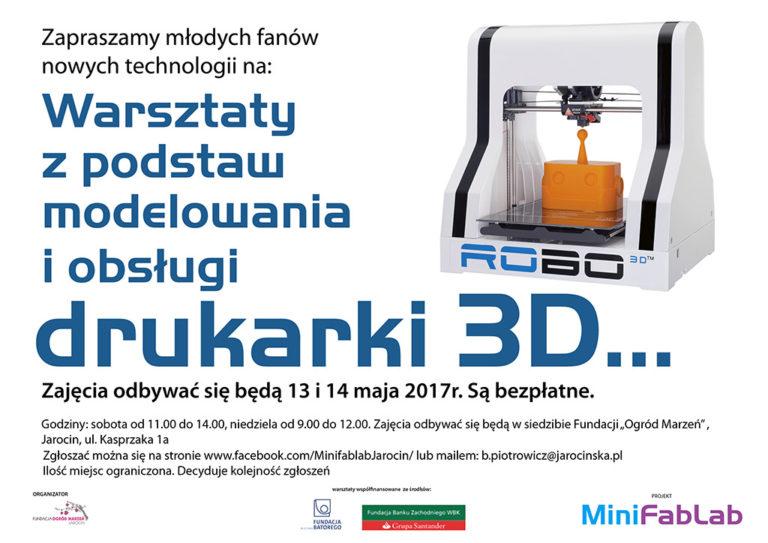 Zapraszamy na kolejne warsztaty, które odbywają się w ramach Projektu MiniFabLAB